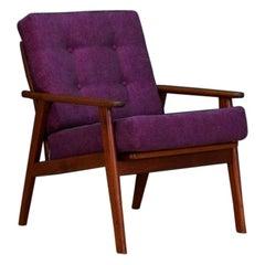 Purple Armchair 1960s Danish Design Classic Original