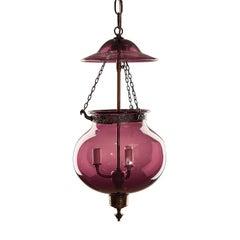 Purple Bell Jar Lantern