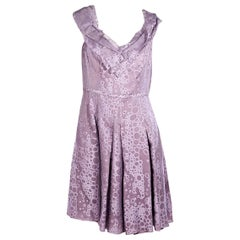 Purple Carolina Herrera Pleated Dress