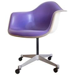 Purple Eames Herman Miller Swivel Chair