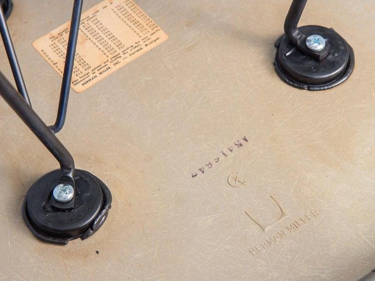 Fiberglass Purple Eames Padded Armshell Chair on Black Eiffel Base for Herman Miller For Sale
