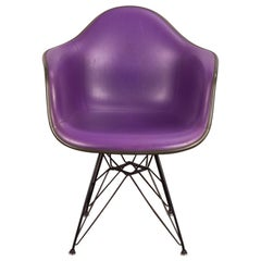 Purple Eames Padded Armshell Chair on Black Eiffel Base for Herman Miller