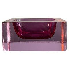 Purple Glass Italian Venini Ashtray