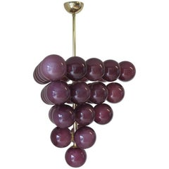 Purple Grapes Chandelier