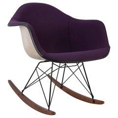 Purple Herman Miller Vintage Eames Upholstered RAR Arm Shell Chair