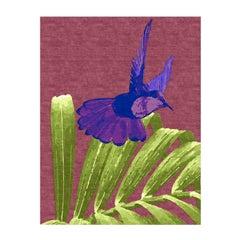 Purple Hummingbird Rug