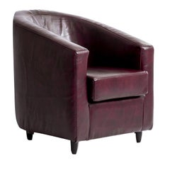 Purple Leather Armchair