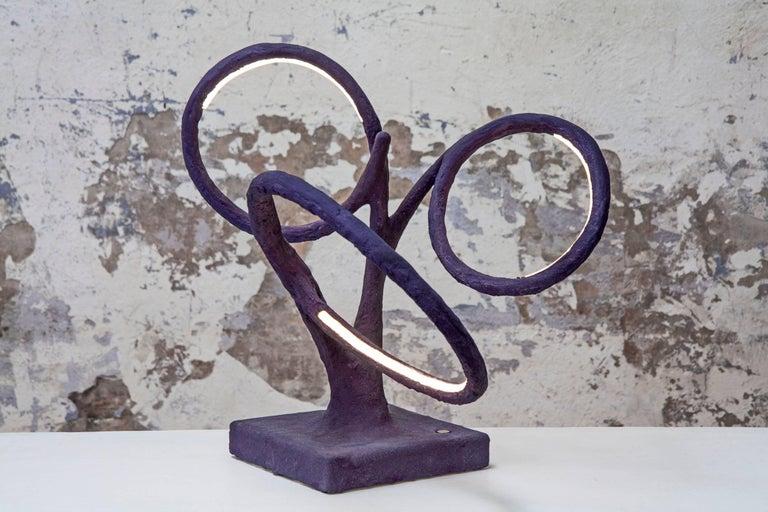 Autopoiesis Light sculpture materials: wood, resin, aggregates, pigments, bronze, LED light dimensions: variable, each creation is unique Light source: strip LED SMD 2216 - 17 w/m - 2.700 k Driver: integrated (AC 220v/ DC