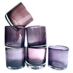 Purple Mezcal Shot Glasses