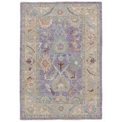 Purple Modern Sultanabad Handmade Wool Rug