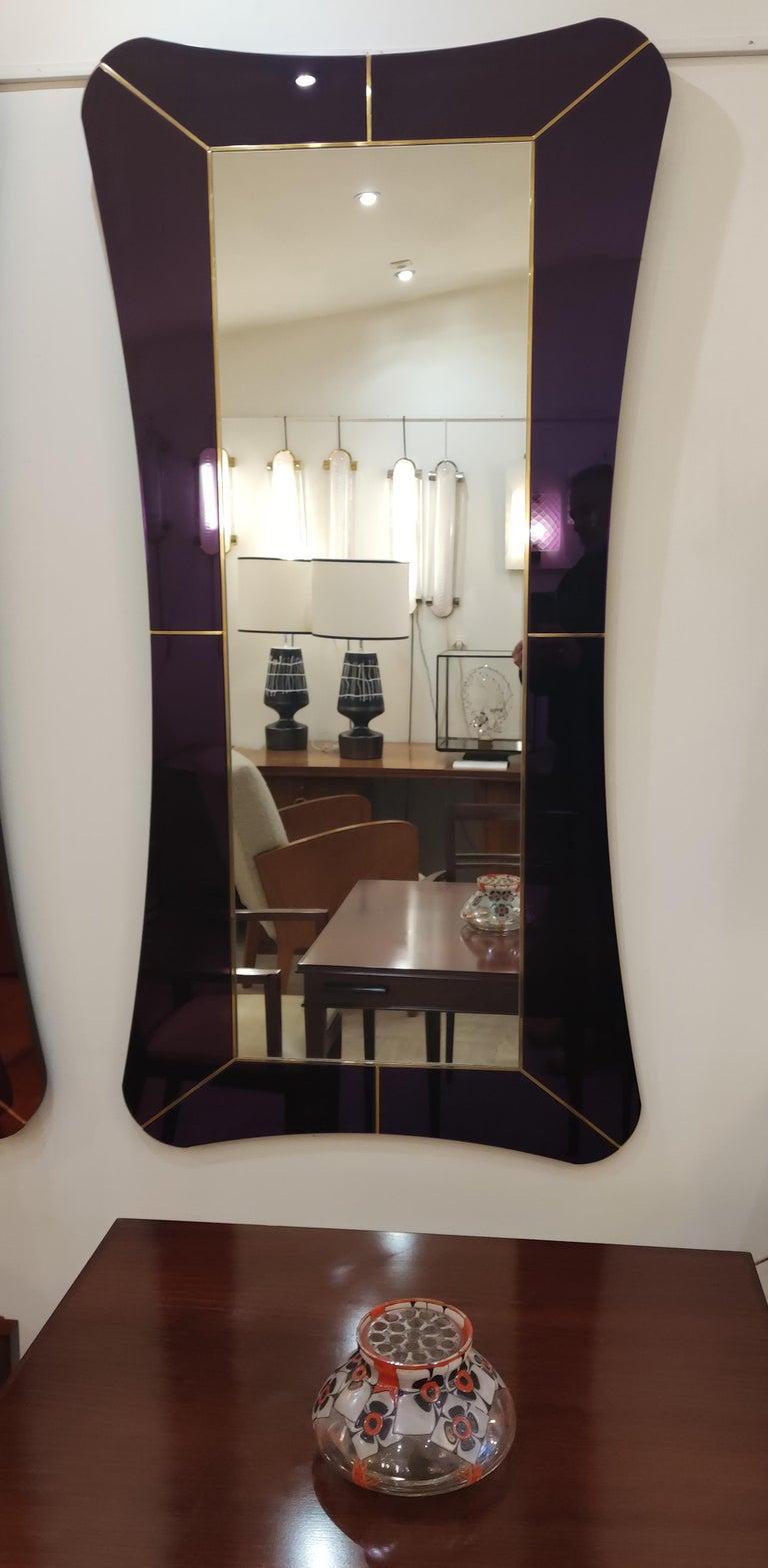 Purple Murano Glass Mirror For Sale 4