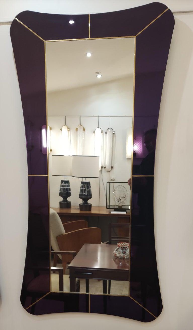 Purple Murano Glass Mirror For Sale 5