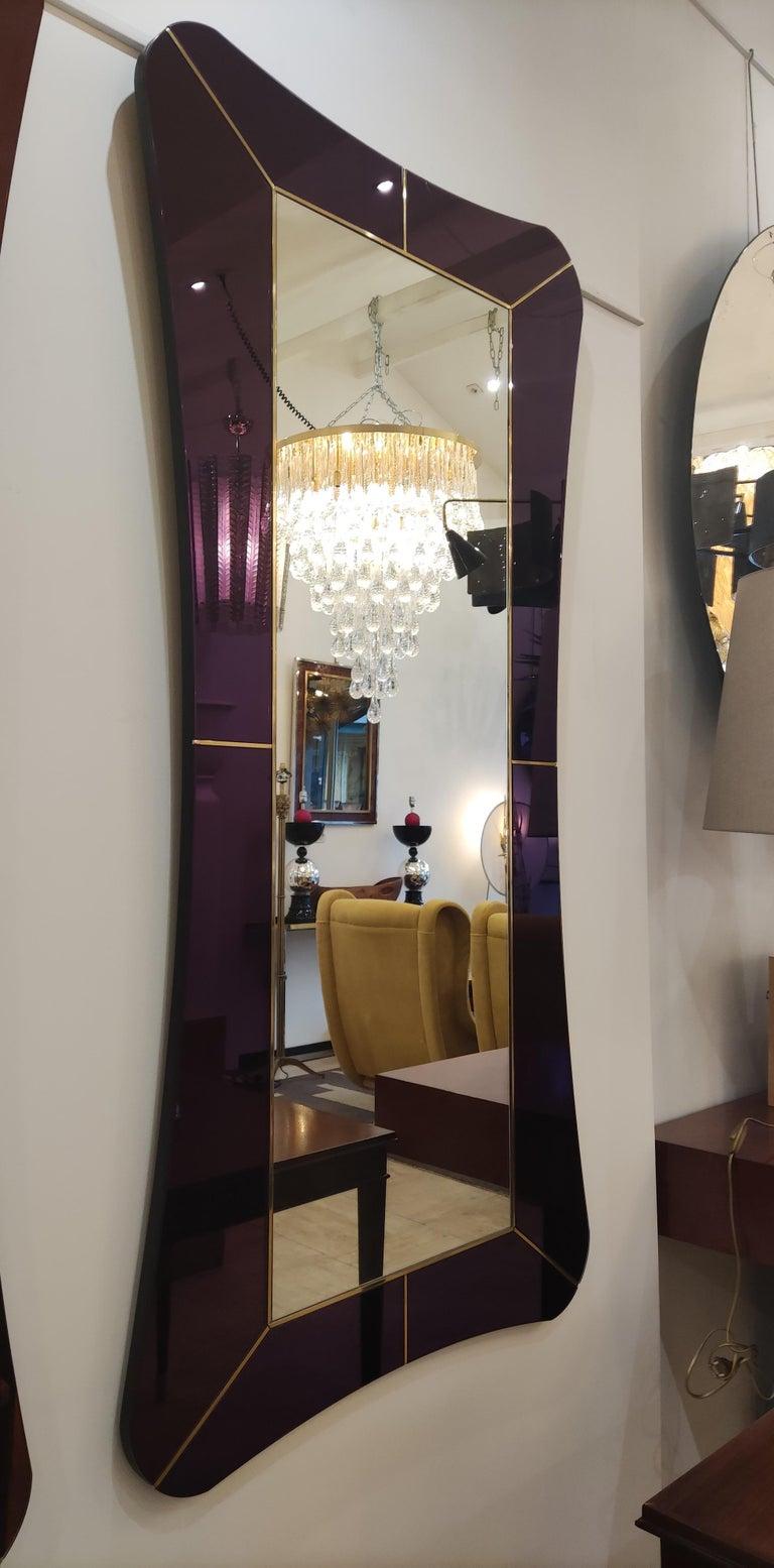 Purple Murano Glass Mirror For Sale 7