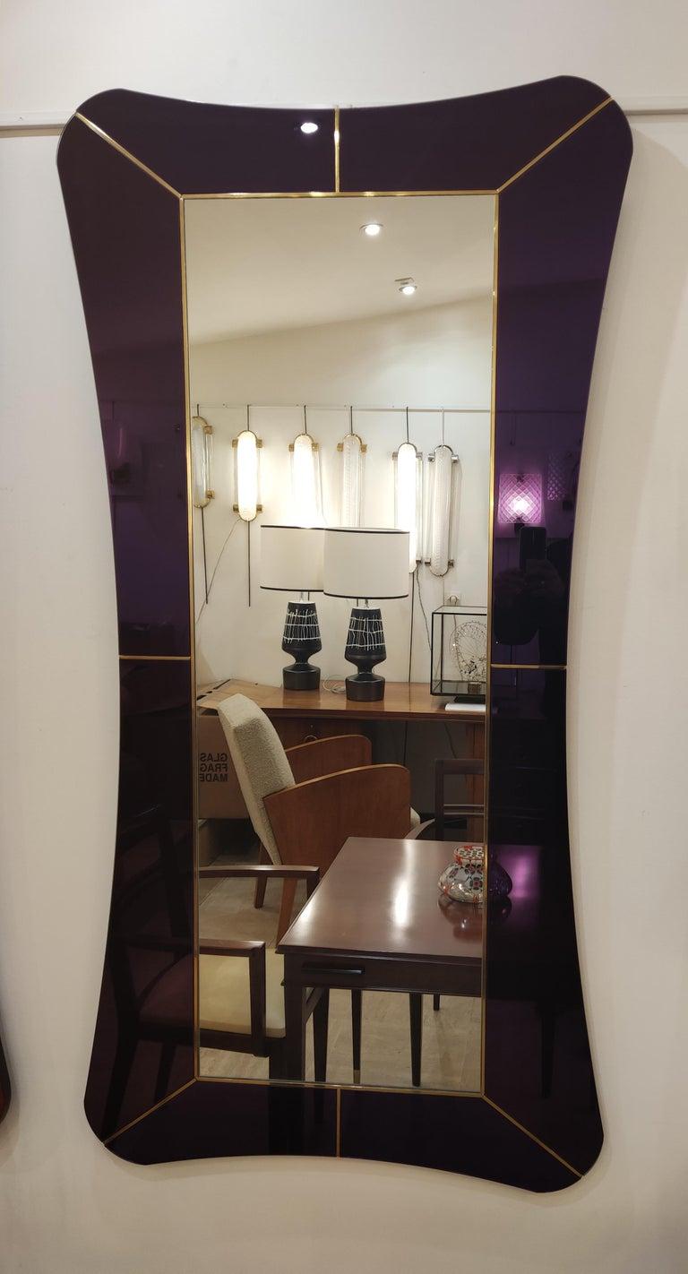 Purple Murano Glass Mirror For Sale 8