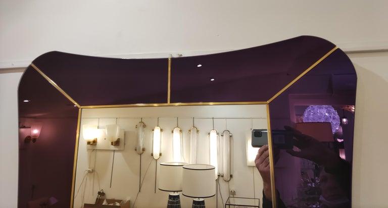 Purple Murano Glass Mirror For Sale 10