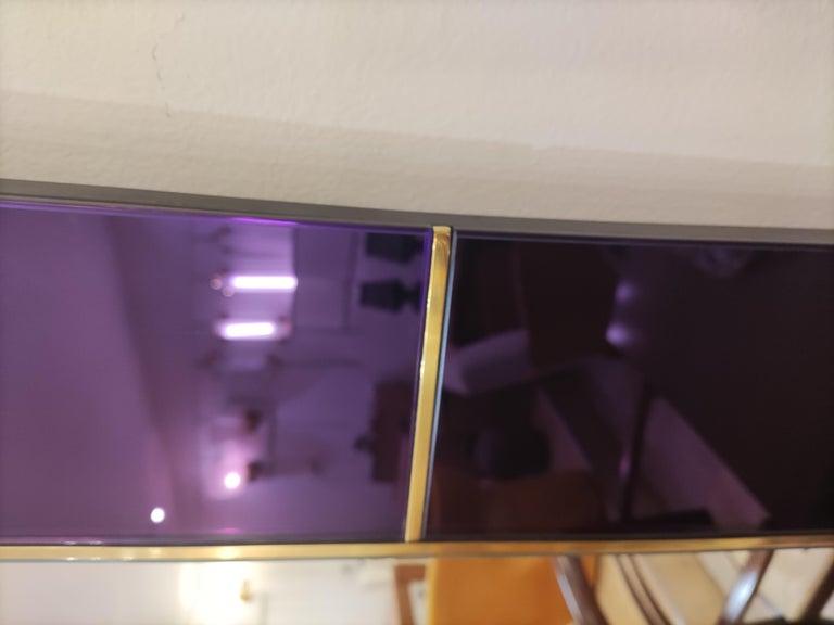 Purple Murano Glass Mirror For Sale 11
