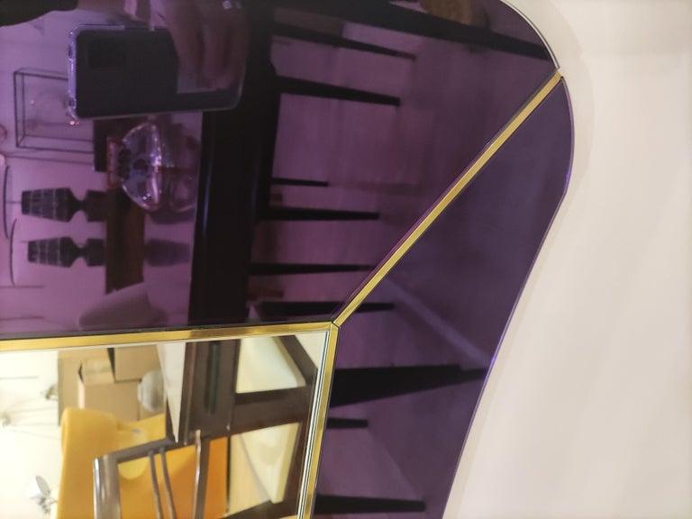 Purple Murano Glass Mirror For Sale 12