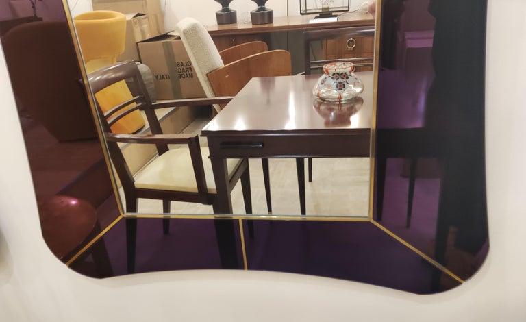 Purple Murano Glass Mirror For Sale 1