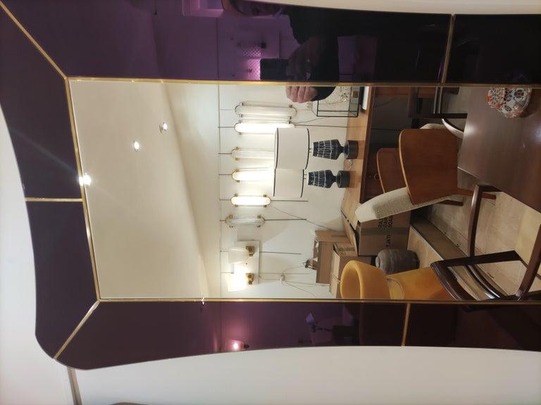Purple Murano Glass Mirror For Sale 2