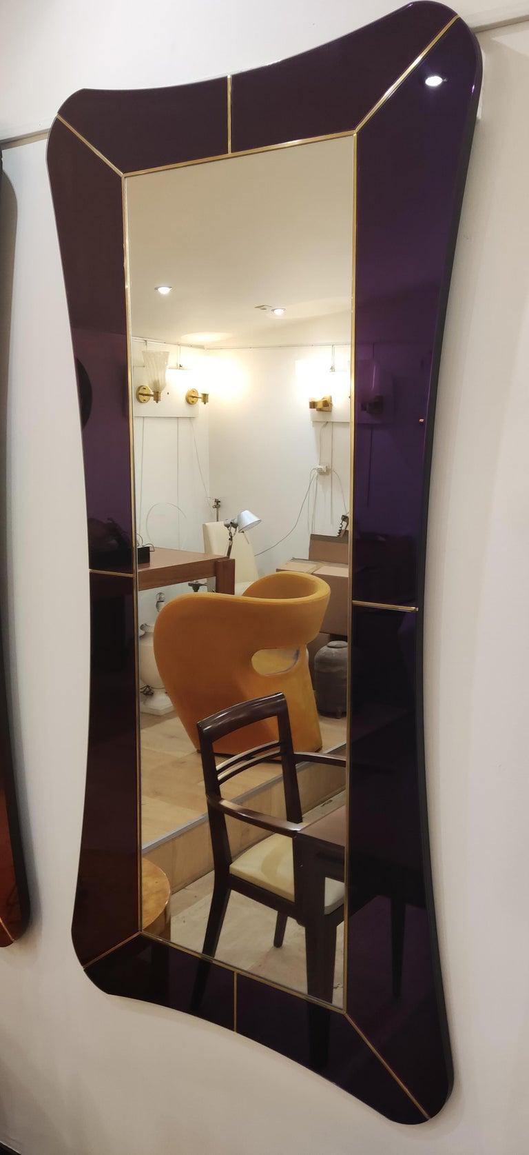 Purple Murano Glass Mirror For Sale 3