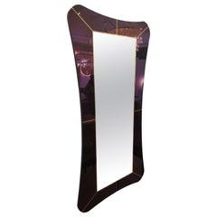 Purple Murano Glass Mirror
