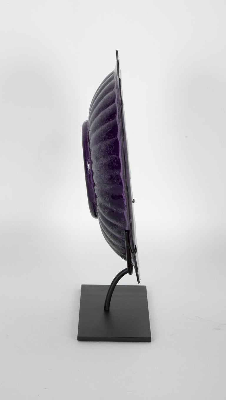 Late 19th Century Purple Peking Glass Charge on Stand For Sale