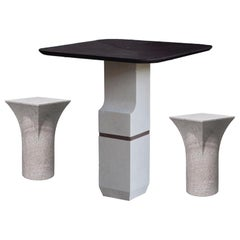 Purple Slate Ravissant Table and Stools, Frederic Saulou