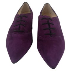 Purple suede ankle boot NWOT
