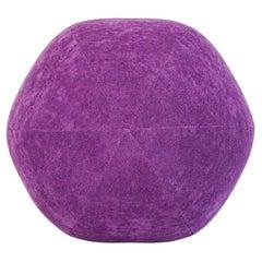 Purple Velvet Ball Pillow