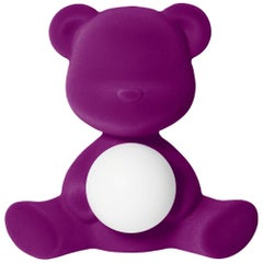 In Stock in Los Angeles, Purple Velvet Teddy Bear Lamp LED, Stefano Giovannoni