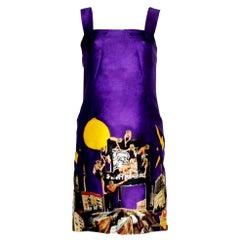 Purple Versace by Tim Roeloff Art Print Silk Cocktail Evening Dress