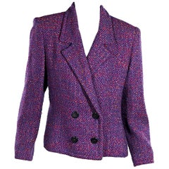 Purple Vintage Givenchy Tweed Blazer