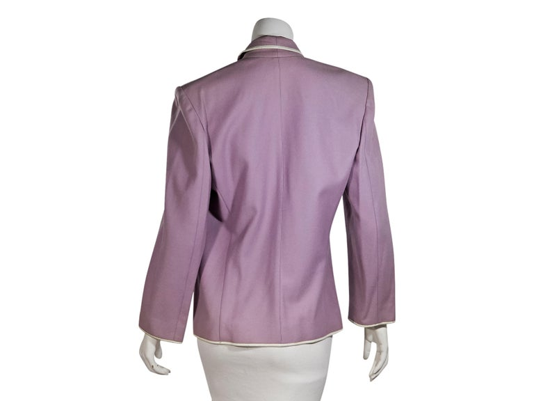 Gray Purple Vintage Thierry Mugler Wool Jacket For Sale