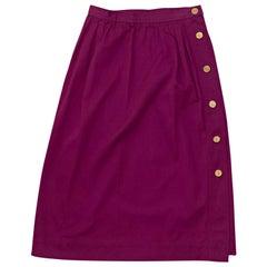 Yves Saint Laurent Purple High-Waist Skirt