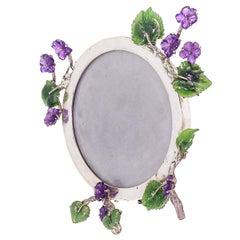 Purple Violets Frame