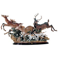Pursued Deer Sculpture, Limited Edition
