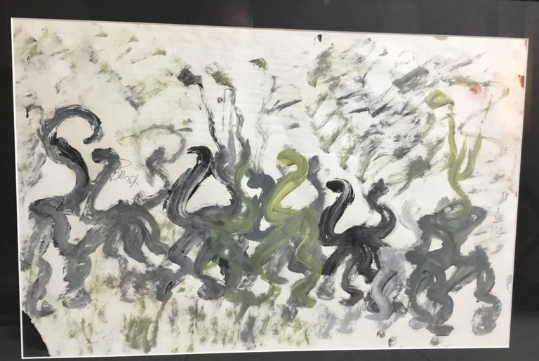Purvis Young Abstract on Paper, 1980s For Sale 2