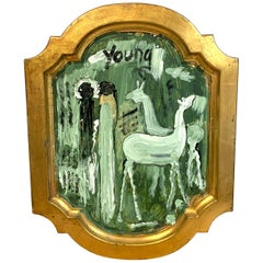 Purvis Young Figures & Horses in Landscape