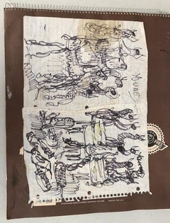Purvis Young, Untitled Sketchbook, circa 1990