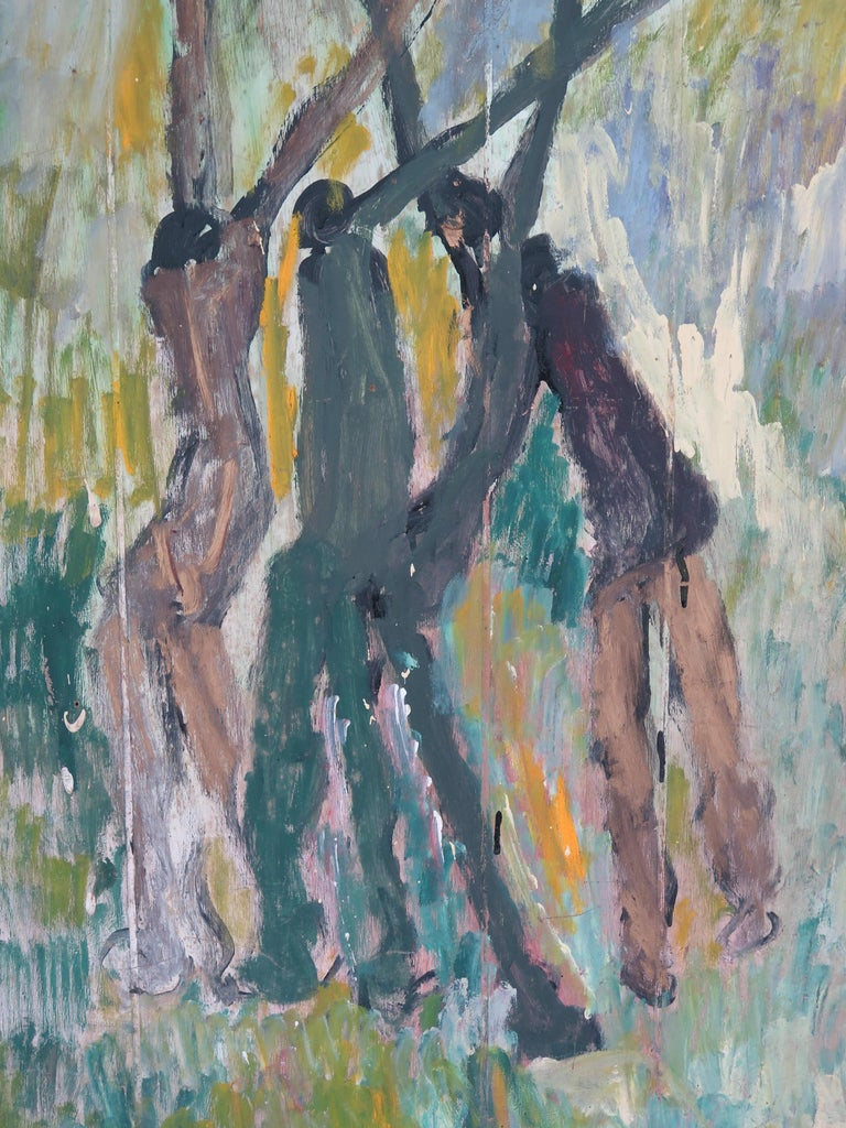 Modern Purvis Young Painting Basketball Players For Sale