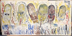 Purvis Young, Transcendence, Acrylic on Wood, 1989-1999