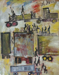 """Trucks in the City"" African American Self-Taught Florida Outsider Folk Art"