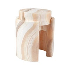 Push Stool by Omar Chakil in Alabaster
