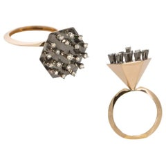 Put Comparisons to Grave with Contemporary One of a Kind Diamond Fashion Ring