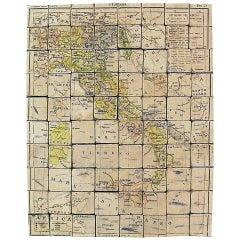 Puzzle Atlas with Maps, Italy, circa 1900
