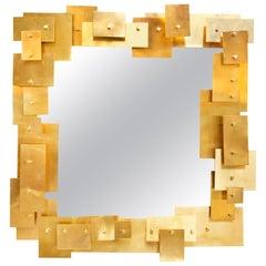 Puzzle Brass Mirror