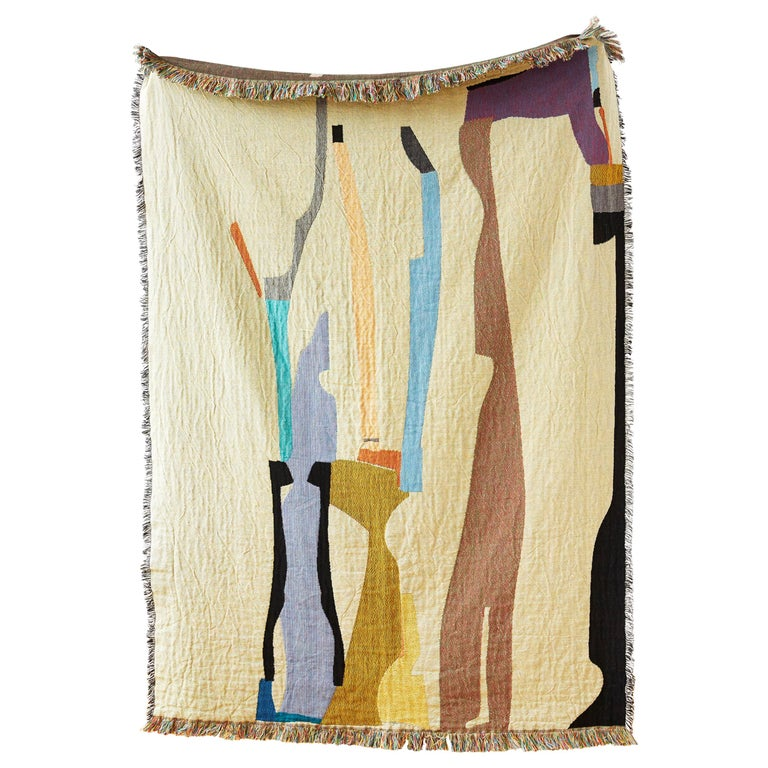 Puzzle Woven Throw by Studio Herron For Sale