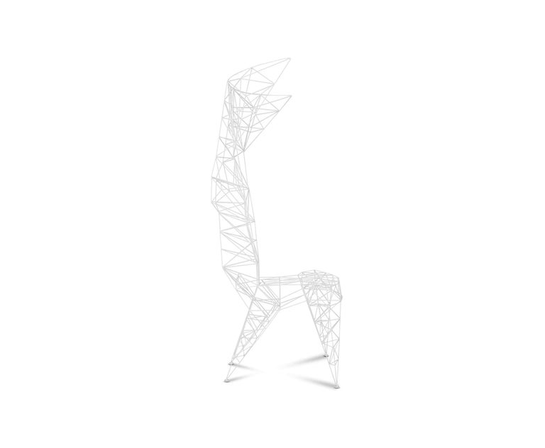 Modern Pylon Chair in White by Tom Dixon