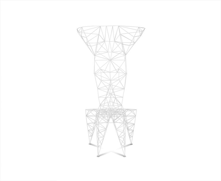 English Pylon Chair in White by Tom Dixon