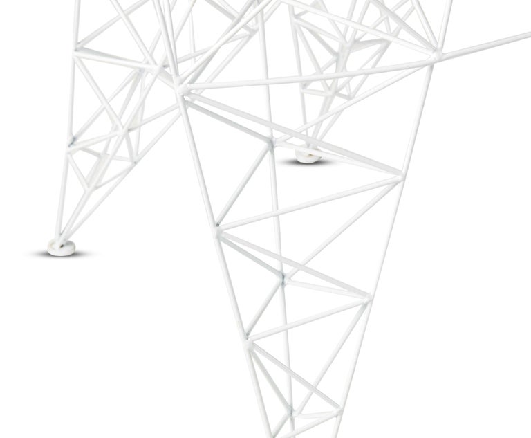 Welded Pylon Chair in White by Tom Dixon